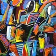 Cosmic Birth Of Jazz Art Print