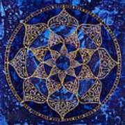 Cosmic Blue Lotus Art Print