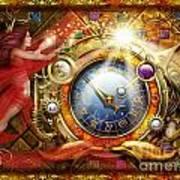 Cosmic Clock Art Print by Ciro Marchetti