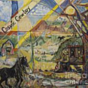 Cosmic Cowboy Art Print