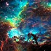 Cosmic Cradle 2 Star Cluster NGC 2074 Art Print