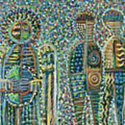 Cosmic Creation Of Adam And Eve Art Print