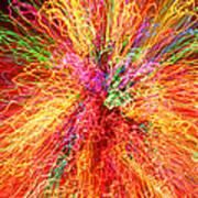 Cosmic Phenomenon Or Christmas Lights Art Print