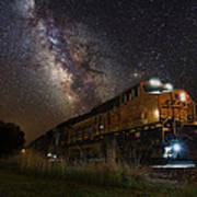 Cosmic Railroad Art Print