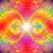 Cosmic Spiral Ascension 02 Art Print