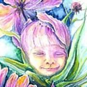 Cosmos Bud Art Print