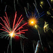 Cosmos Fireworks Art Print
