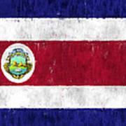 Costa Rica Flag Art Print
