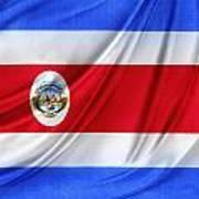 Costa Rican Flag Art Print