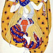 Costume Design For A Dancer Art Print