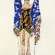 Costume Design For A Dancing Girl Art Print