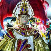 Costumed Man Tenerife Art Print