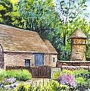 Cotswold Barn Art Print by Carol Wisniewski