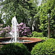 Cottage Garden Fountain Art Print
