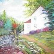 Cottage Gardens Art Print
