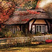 Cottage - Nana's House Print by Mike Savad