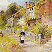 Cottages   A Row Of Cottages Art Print