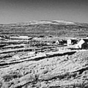 cottages and holiday homes with fields with dry stone walls gweedore county Donegal Republic of Ireland Art Print