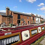 Cottages At Fradley Junction Art Print