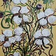 Cotton #2 - Cotton Bolls Art Print
