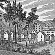 Cotton Factory Village, Glastenbury, From Connecticut Historical Collections, By John Warner Art Print