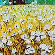 Cotton Fields Back Home Art Print by Eloise Schneider