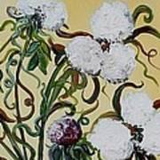Cotton Triptych Art Print by Eloise Schneider
