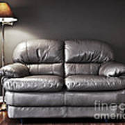 Couch And Lamp Art Print