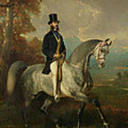 Count Alfred De Montgomery 1810-91 1850-60 Oil On Canvas Art Print