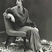 Countess Celani Lepri Wearing A Velvet Dress Art Print