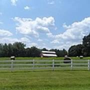 Country Barn And Hay Art Print