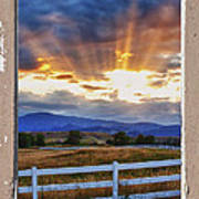 Country Beams Of Light Pealing Picture Window Frame Vie Art Print