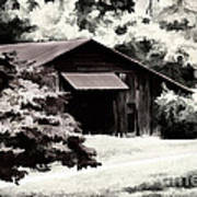 Country Charm In Dramatci Bw Art Print