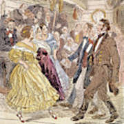 Country Dance, 1820s Art Print