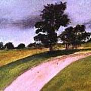 Country Driveway Art Print by Andrea Friedell