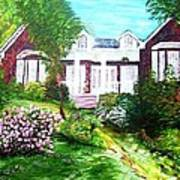 Country Estate In Spring Art Print