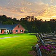 Country Estate Sunset Art Print