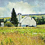 Country Farm Art Print by Dianne  Lacourciere