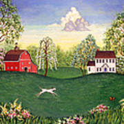 Country Frolic One Art Print