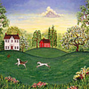 Country Frolic Two Art Print