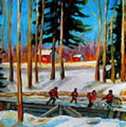 Country Hockey Rink Art Print