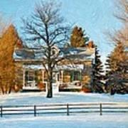 Country Home Impasto Art Print