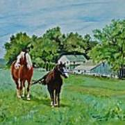 Country Horses Art Print