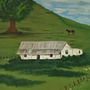 Country Life Art Print by Melanie Blankenship