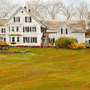 Country Moments-farmhouse In Woodstock Vermont Art Print