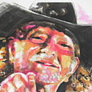 Country Music Artist...willie Nelson Art Print