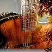 Country Music Digital Guitar Art By Steven Langston Art Print by Steven Lebron Langston