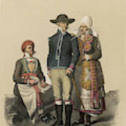 Country People From Ingelstad Art Print