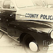 Country Police Antique Toned Art Print by John Rizzuto