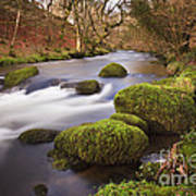 Country River Scene Wales Art Print